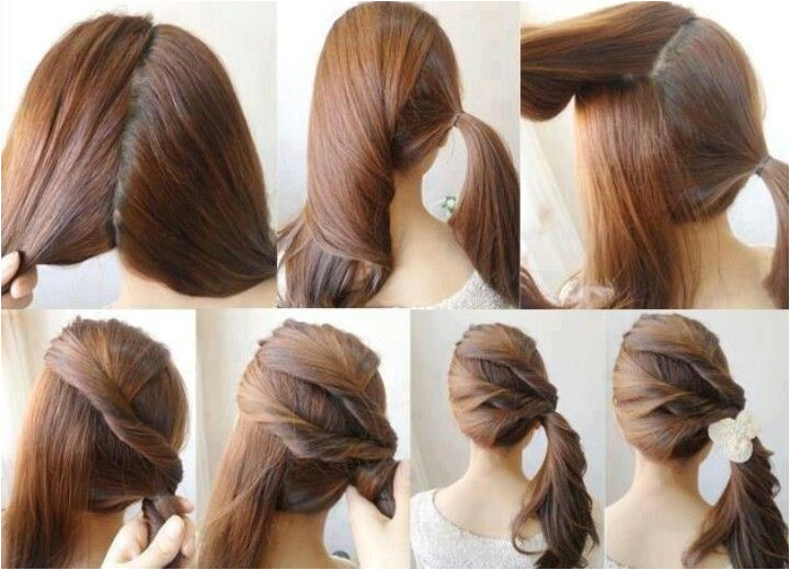 """25 pretty hairstyles """"easiest hair do"""" DIY Easy Ponytail Hairstyle Do It Yourself Fashion Tips DIY Fashion Projects on imgfave C"""