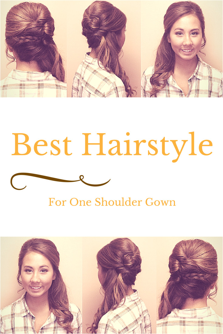 What is the best hairstyle how to wear hair with for a strapless gown dress side swept ponytail