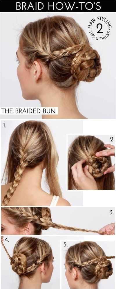 "Simple Bun Hairstyle Elegant Easy Hairstyle Tutorials for Long Hair Elegant Pun"" A Od 3"