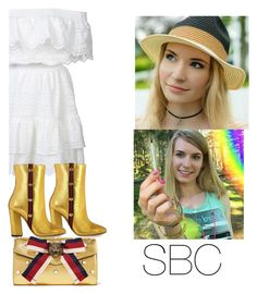 """""""Sarabeautycorner YOUTUBE"""" by elizabethmorrin ❤ liked on Polyvore featuring LoveShackFancy and Gucci Gucci"""
