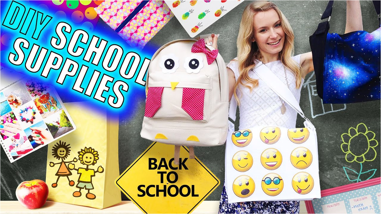 DIY School Supplies & Room Organization Ideas 15 Epic DIY Projects for Back to School