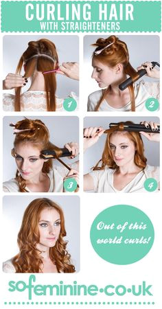 DIY Tutorial How To Curl Hair With Straighteners