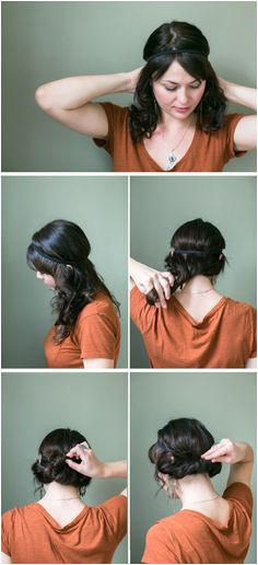 Easy Hairstyles for Long Hair Step by Step Simple Updo Tutorial Easy Updo Cute