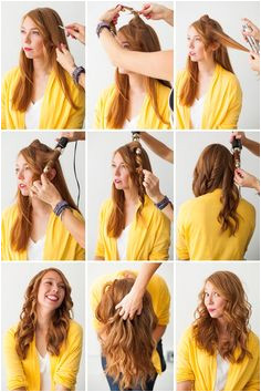 Create Curls With a Hair Straightener Step by Step Curling Iron Wavy Hair Hair