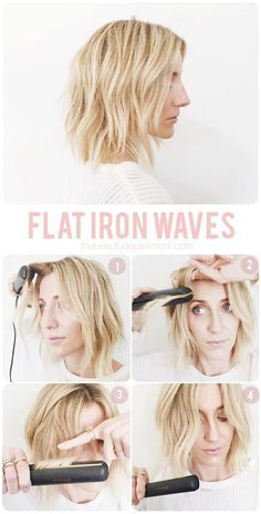 DIY Hairstyle Flat iron waves tutorial