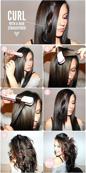 how to curl hair with straightener flat iron hacks tips tricks