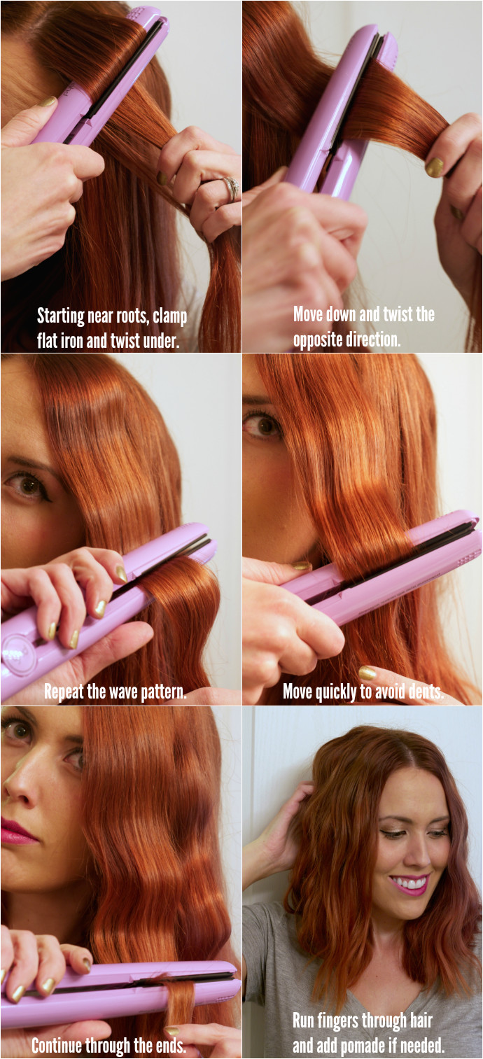 Diy Hairstyles with A Straightener Easy Flat Iron Waves Tutorial Hair Short to Medium
