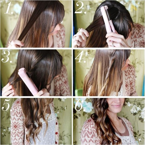 Easy curls with a flat iron they are supposed to stay in longer then using a curling iorn I m gonna try this and we shall see