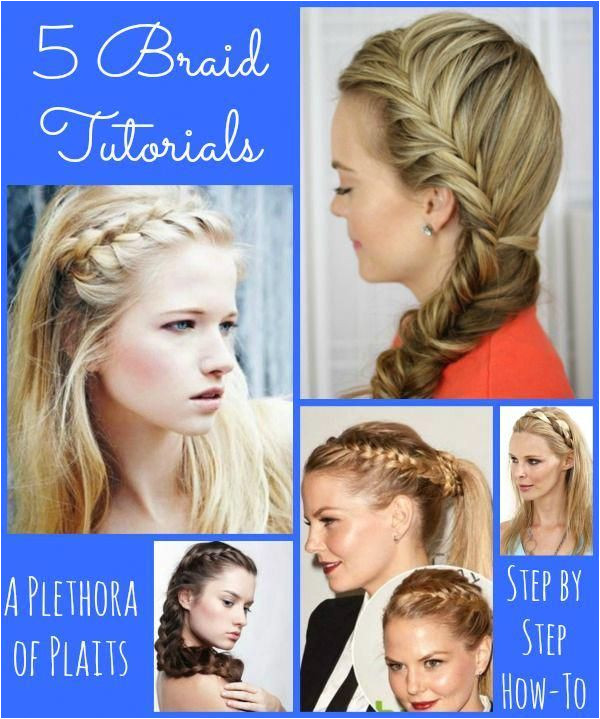 5 Braid Tutorials Step by Step instructions Diyhairstyles