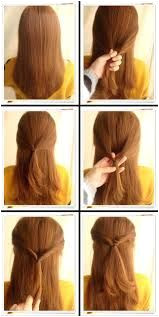 simple hairstyle step by step instructions Google Search SimpleHairstylesStepByStep