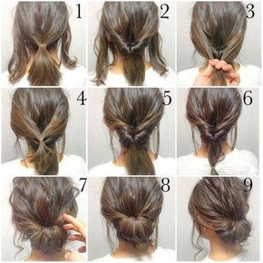 Splendid 5 Minute Hair Bun fashion hair diy hairdo updo hairstyle bun instructions directions step by step how to pictorial tutorial The post 5 Minute Hair