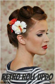 DIY Wedding Hair DIY Retro Roll Updo Vintage Hairstyles Tutorial Vintage Updo Tutorial