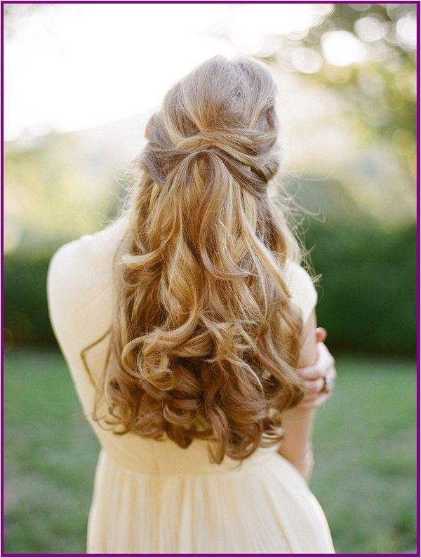 Waterfall Braid With Curls For Evening Party Braid curls evening PARTY waterfall