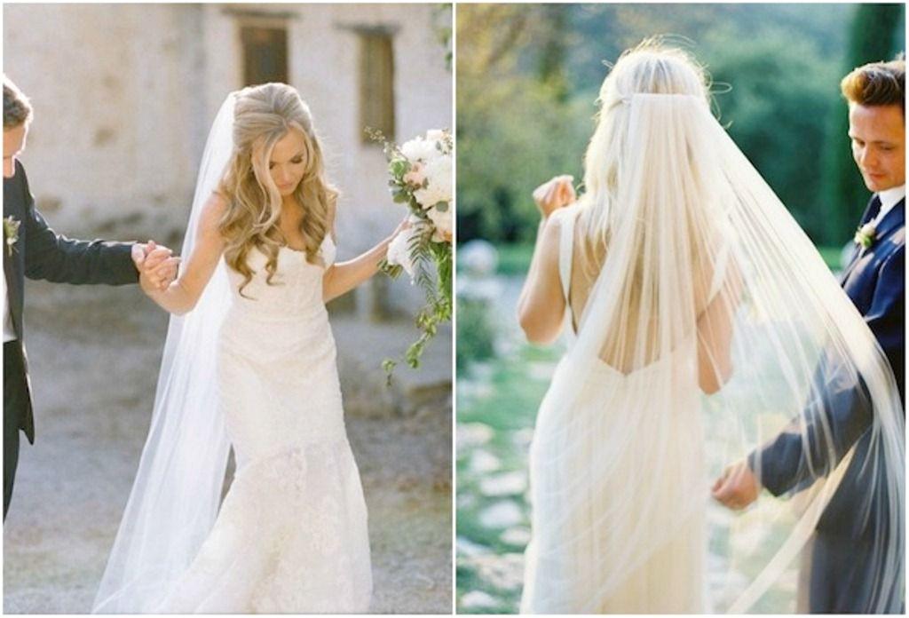 long veil with hair down