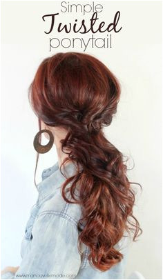 Here is a simple twisted ponytail you can even wear to any kind of party