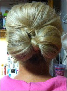 Cute bow updo As soon as my hair s long enough Love Hair