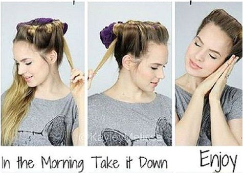 Hacks tips and tricks to curls overnight without using curling iron No heat