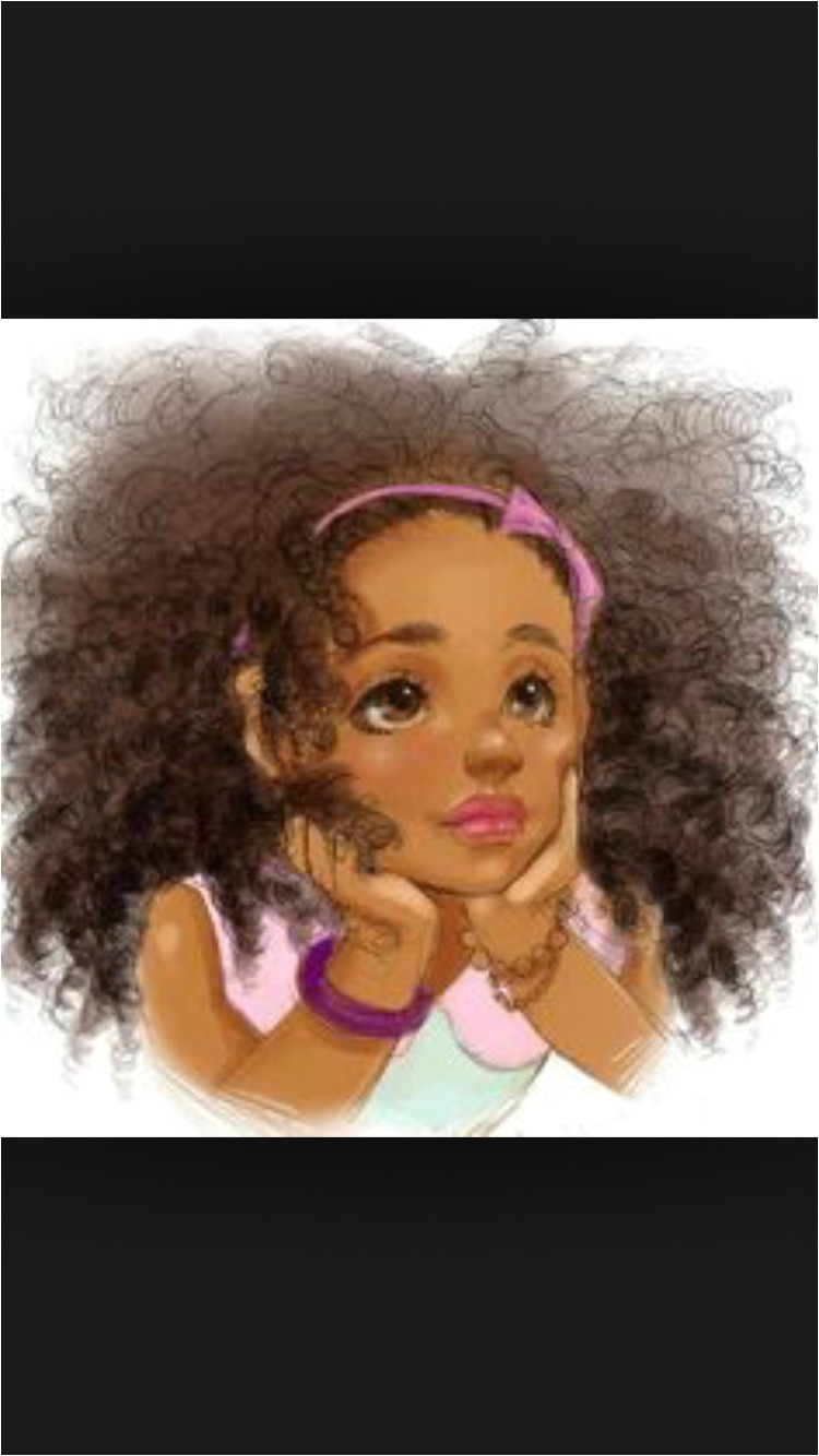 Beautiful African Princess African Girl African American Art Natural Afro Hair Natural