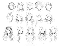 Hair Hair Styles Drawing Hair Drawings Hair Style Sketches Anime Hair Drawing