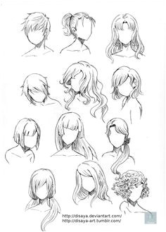 Hair reference 3 Drawing Tips · Hair Styles Drawing