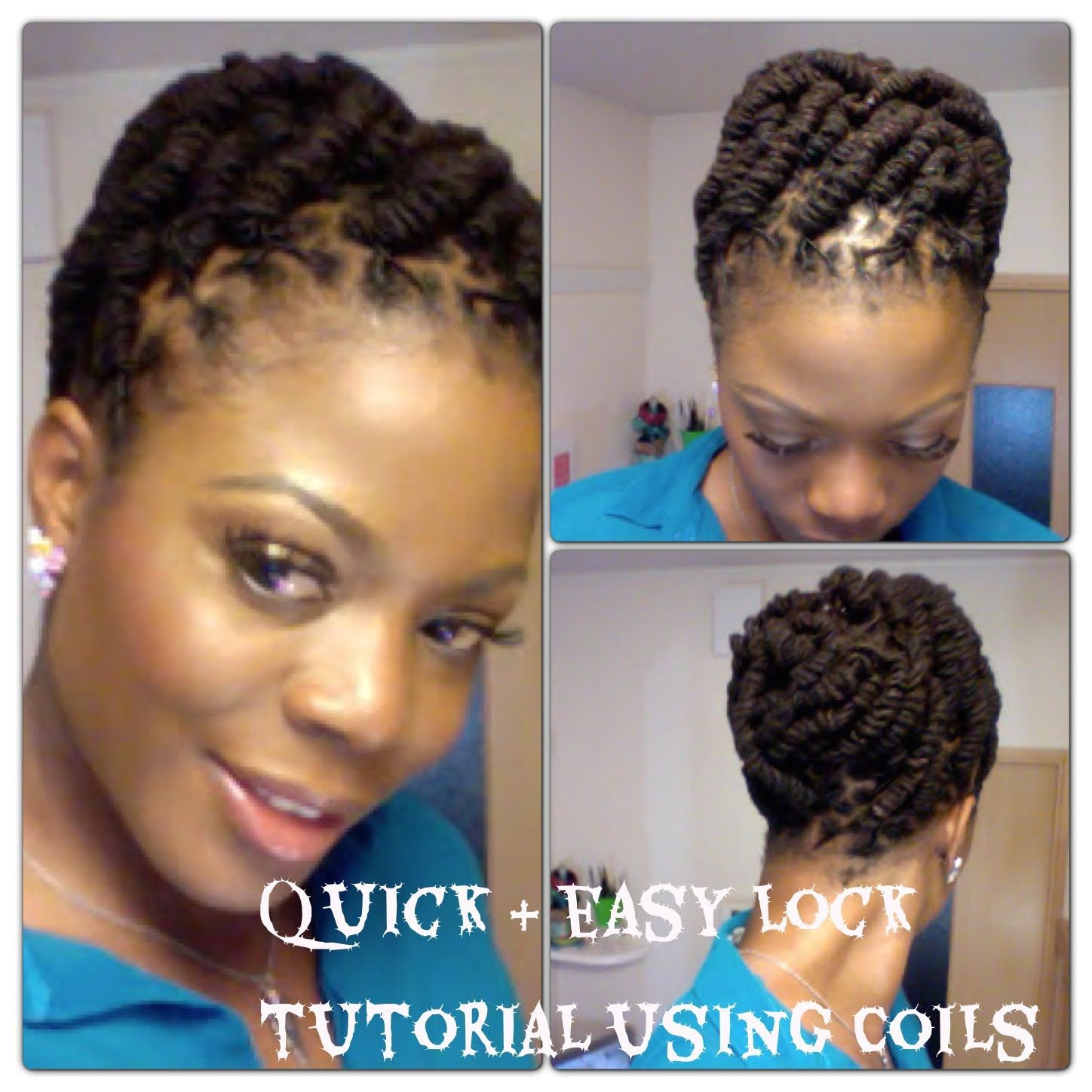 Simple and Quick Lock Hairstyle using Coils