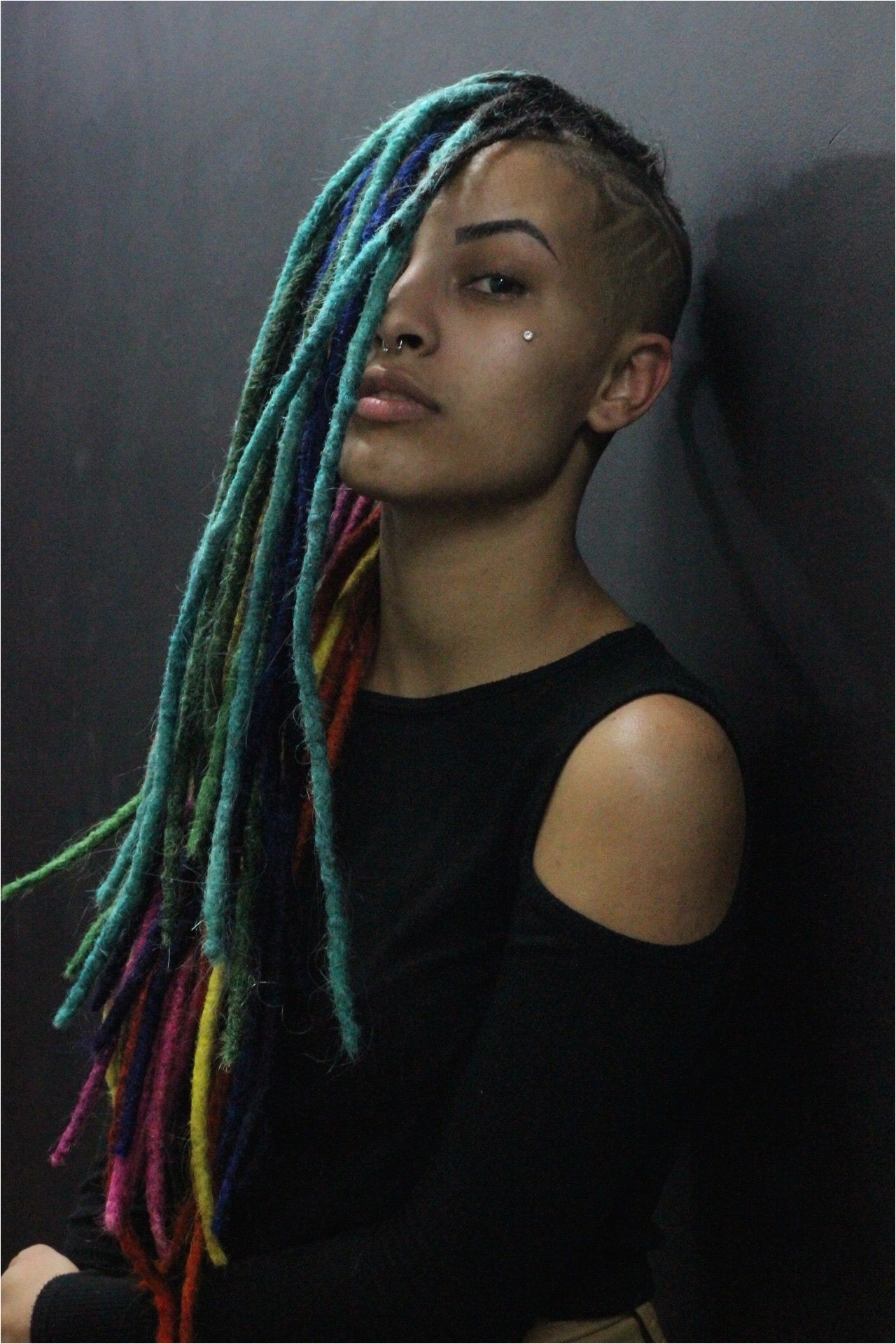 Dreadlocks Hairstyles for Long Faces Mwowhawk Stylish Locks