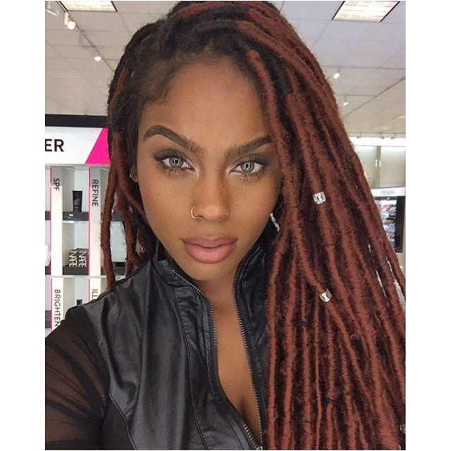 Black Beauties Ombre Faux Locs Colored Faux Locs Faux Dreads Colored Box Braids