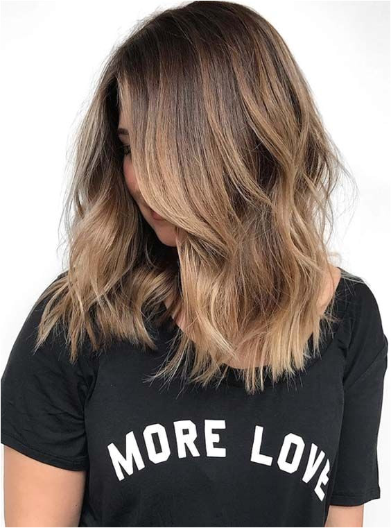 Are you looking for best hair colors 2018 to match with medium hairstyles Just see here how is looking the beautiful brunette ombre hair colors for medium