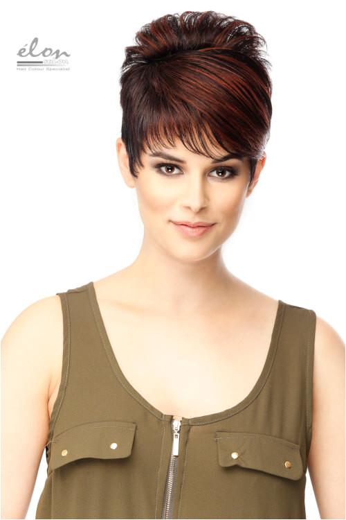Leslie short brown hair