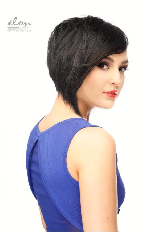 Judy short black hair