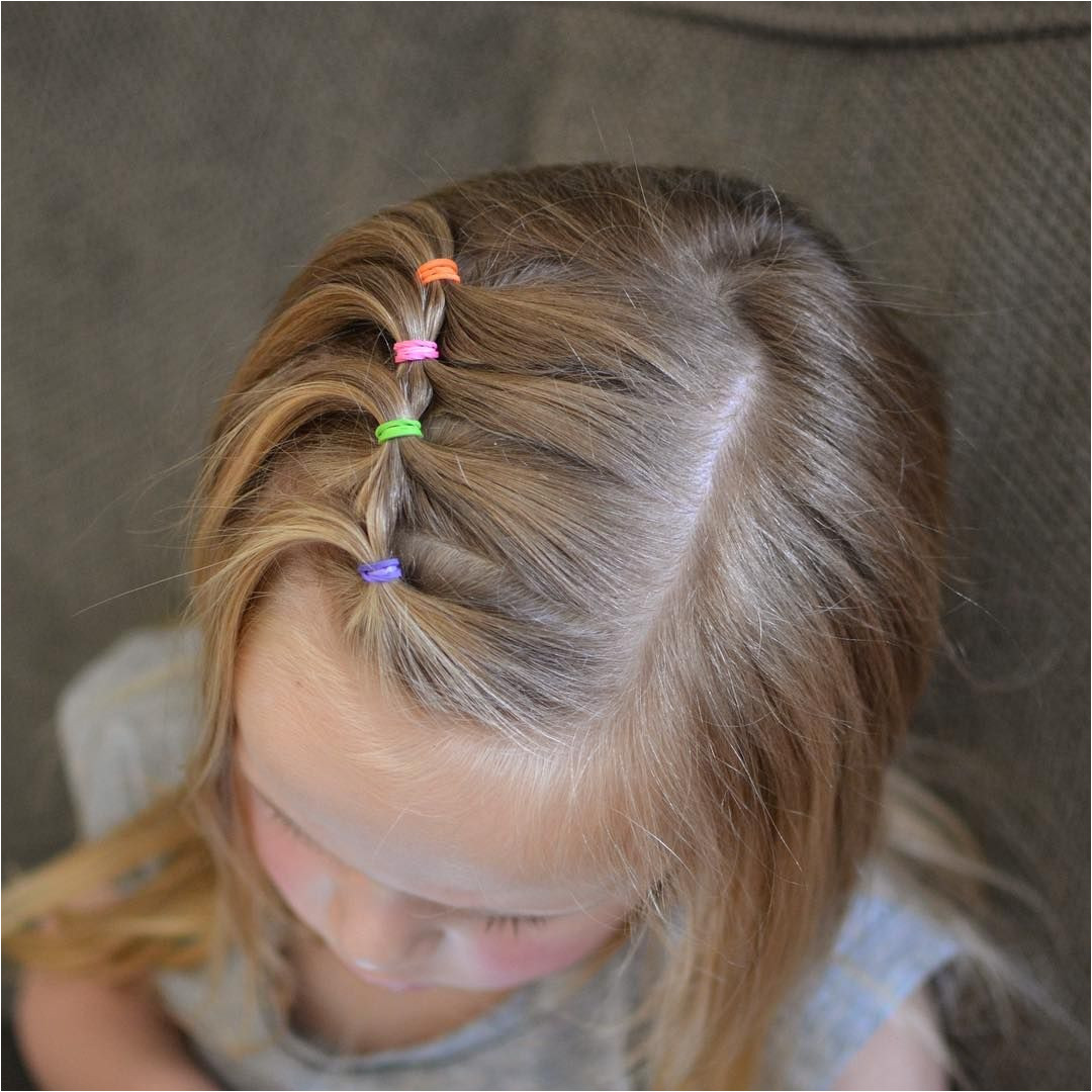 Super cute and easy toddler hairstyle