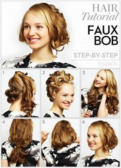 DIY Short Curly Hairstyle Cool Hairstyles Short Curly Hair Short Hair Styles Medium