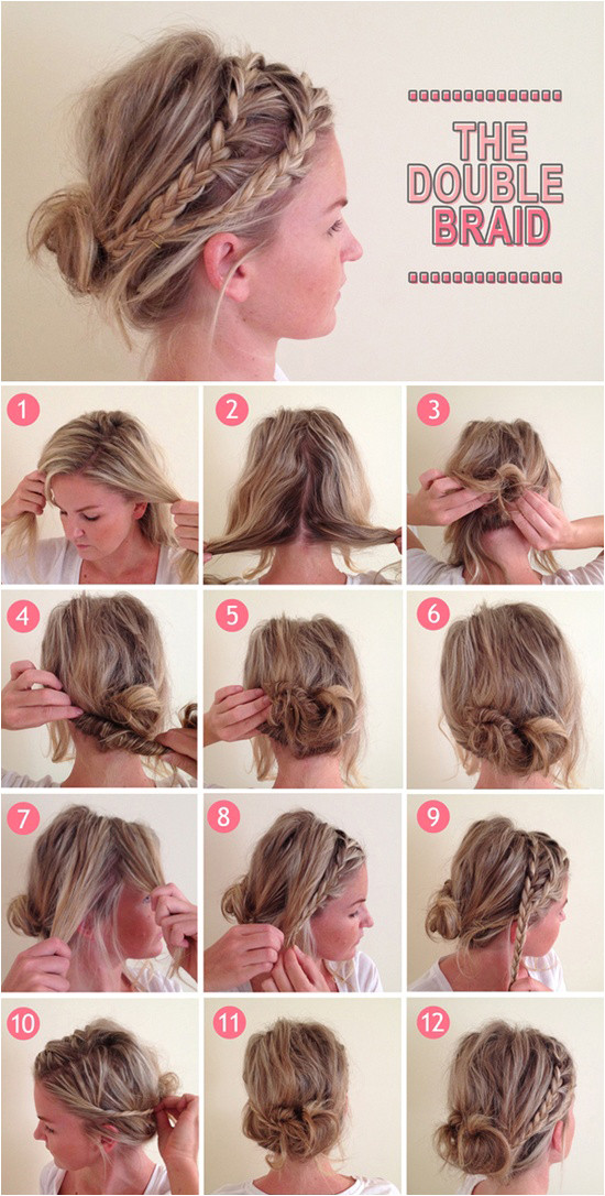 Double Braid perfect when your hair is dirty at the end of the week braid hair