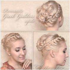 Greek goddess hair tutorial Updo hairstyle for shoulder length medium long hair
