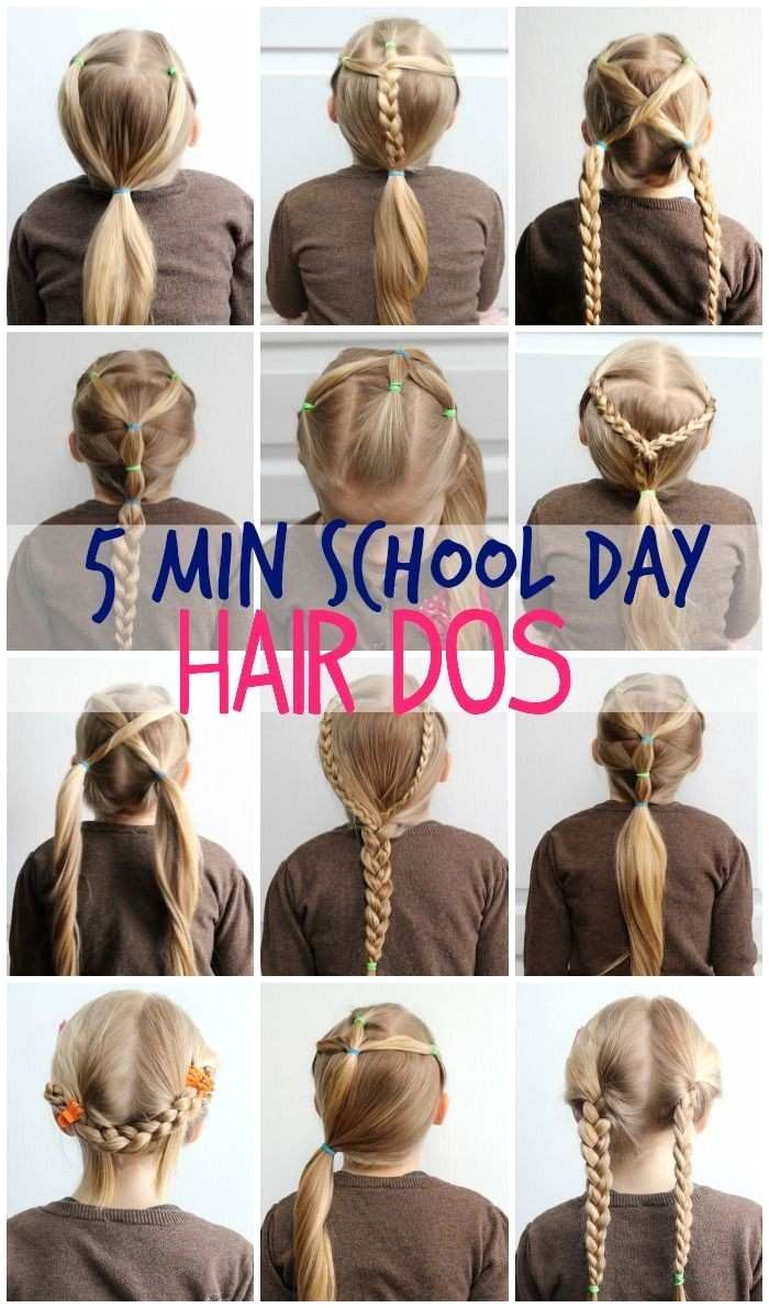 Easy Hairstyles 5 Minutes Girls Easy Hairstyles for School Luxury 5 Minute School Day Hair