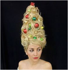 Christmas Themed Hairstyle Ideas Christmas Holidays Whoville Christmas fice Christmas Party Tacky Christmas