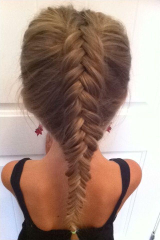 Dutch inverted fishtail braid Dutch Fishtail Easy Hairstyles Braids Hair Styles