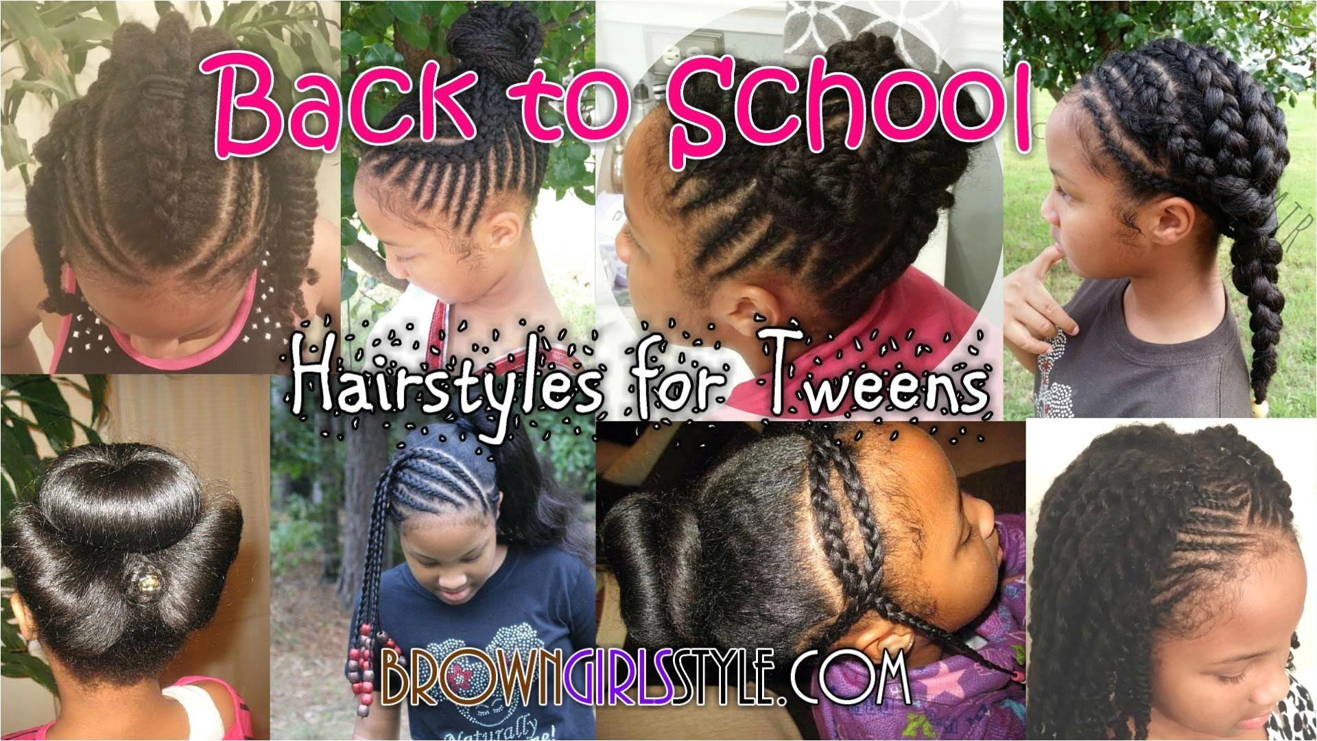 Tween zurück zur Schule natürliche Frisuren Girls Back To School Hairstyles Young Girls Hairstyles