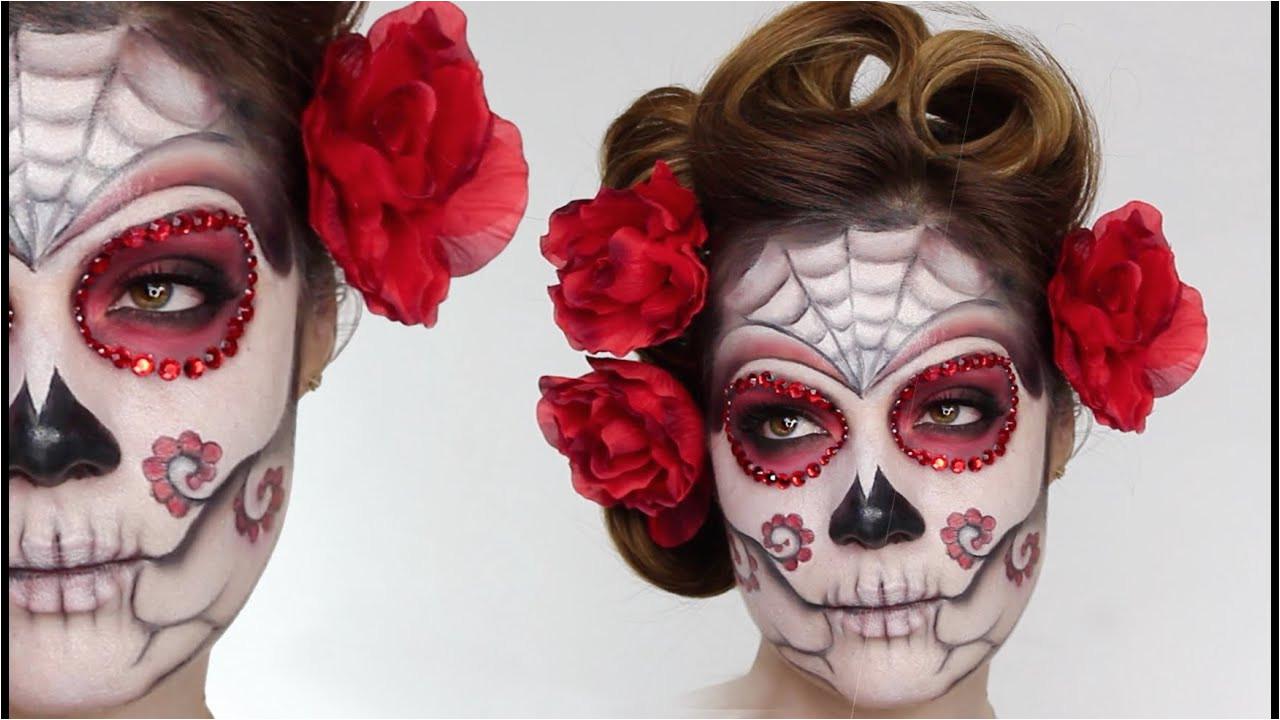 Easy Sugar Skull Day The Dead MakeUp Tutorial For Halloween Shonagh Scott
