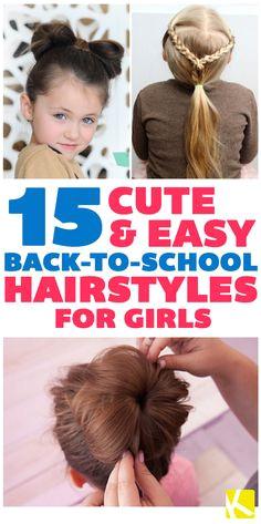 15 Cute & Easy Back to School Hairstyles for Girls Kids School Hairstyles