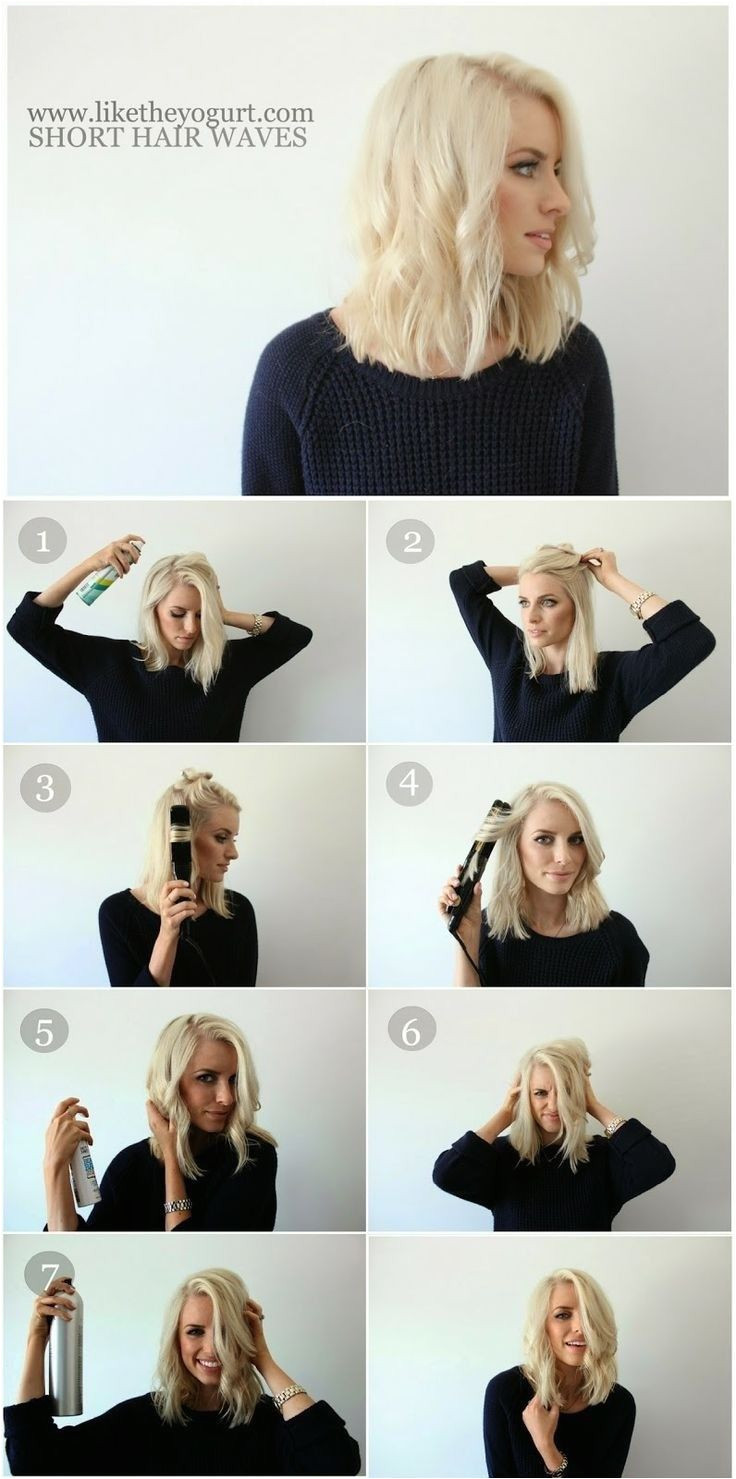 How To Style Easy Wavy Hair Tutorial for Medium Hair
