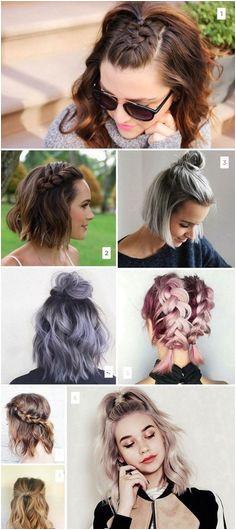 Trending Short Hairstyle Braid Short Hair Easy Hairstyles For Short Hair Medium Hair Updo
