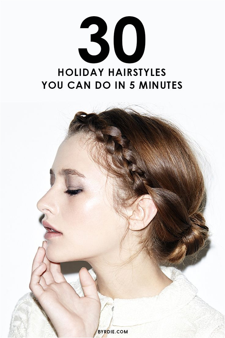 Holiday hairstyles that are quick and easy