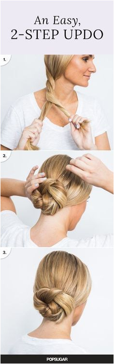 An Easy 2 Step Updo Simple Hair Updos Simple Hairstyles For Long Hair