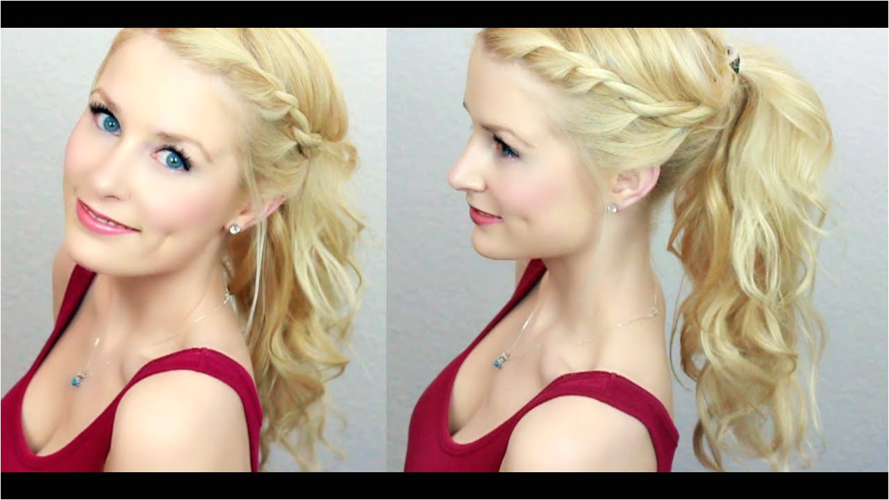 Cute & Easy Twisted Ponytail Much Requested
