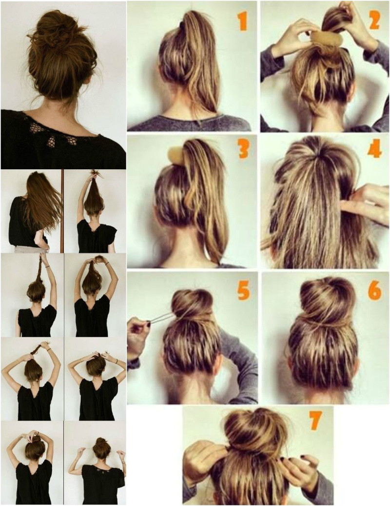 hair buns top knot half up half down half bun