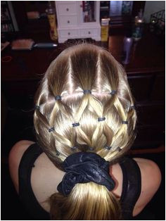 Cute and easy hair style for the kiddos Gymnastics Meet Hair Softball Hairstyles