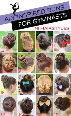 16 Gymnastics Hairstyles for petition Day The Bun Edition Dance Hairstyles Gymnastics Hairstyles