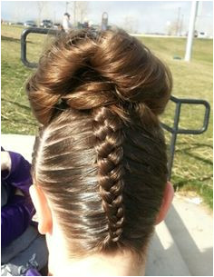 Gymnastics hair Braids Gymnastics Meet Hair Gymnastics Skills Gym Hairstyles Ballet