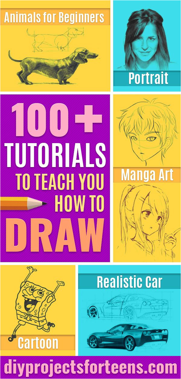 100 How To Draw Tutorials Eyes Hair Face Lips People Animals Hands Step by Step Drawing Tutorial for Beginners Free Easy Lessons